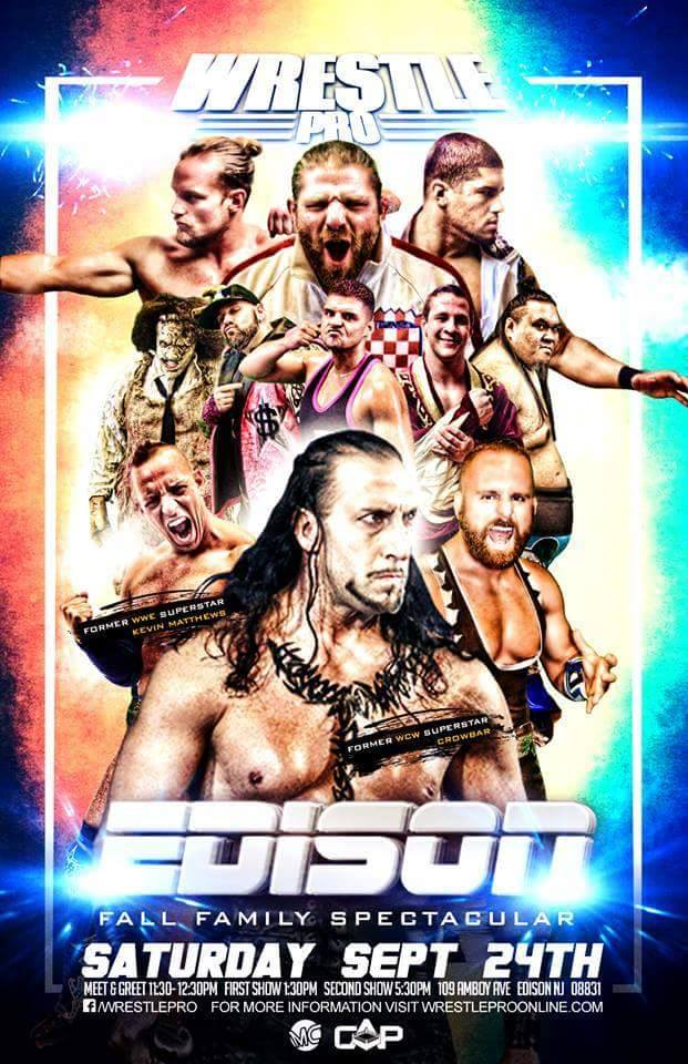 WrestlePro 9 Edison NJ Sept 24