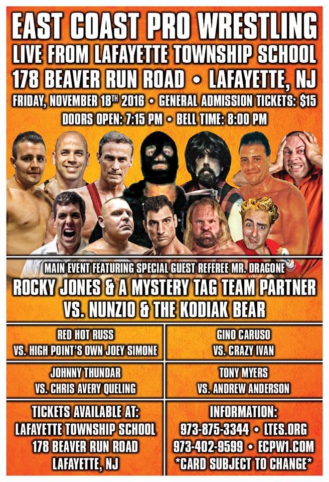 ECPW Lafayette NJ November 18 2016