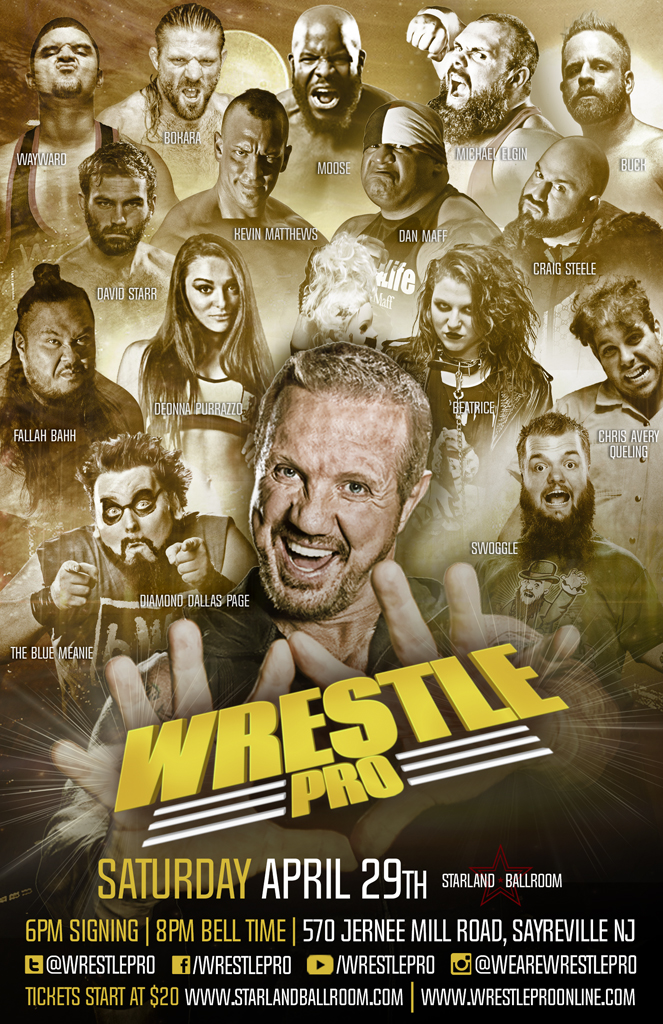 WrestlePro Starland Ballroom April 29 2017