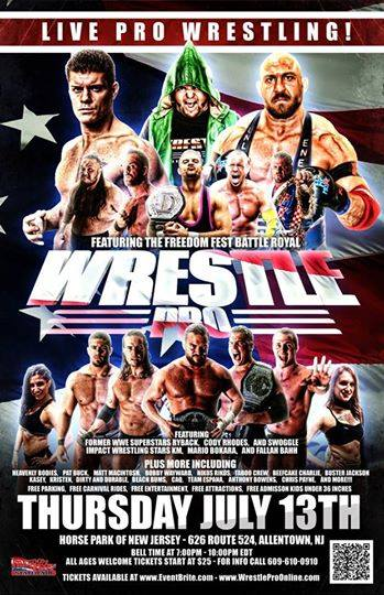 WrestlePro Allentown NJ July 13 2017