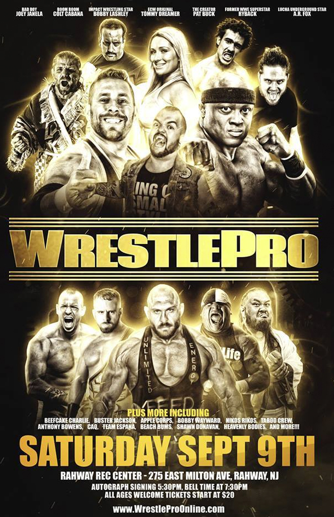 WrestlePro Rahway NJ September 9 2017
