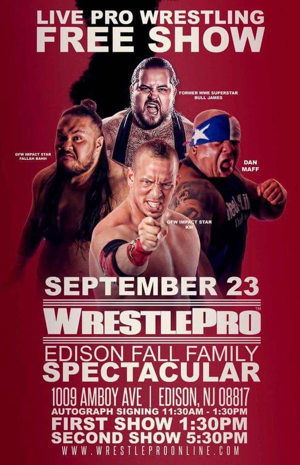 WrestlePro Edison Fall Family Spectacular